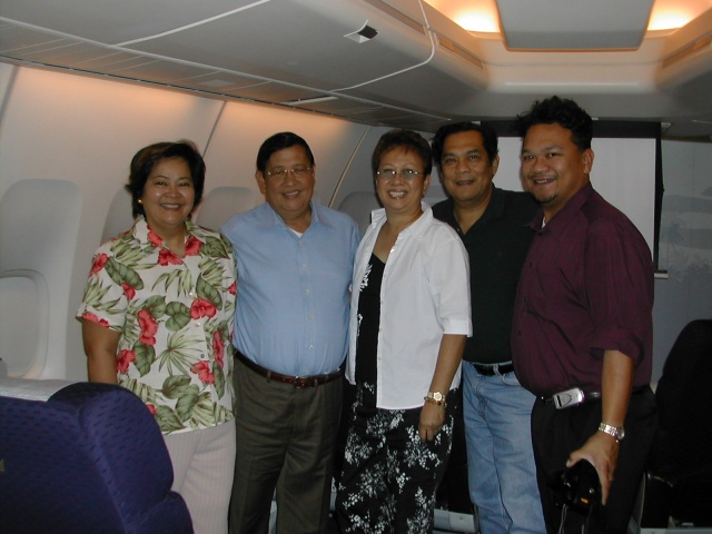 For the second time in two years, we flew alongside Senator Raul Roco (second from left), a potential candidate for the seat of Philippine Presidency.